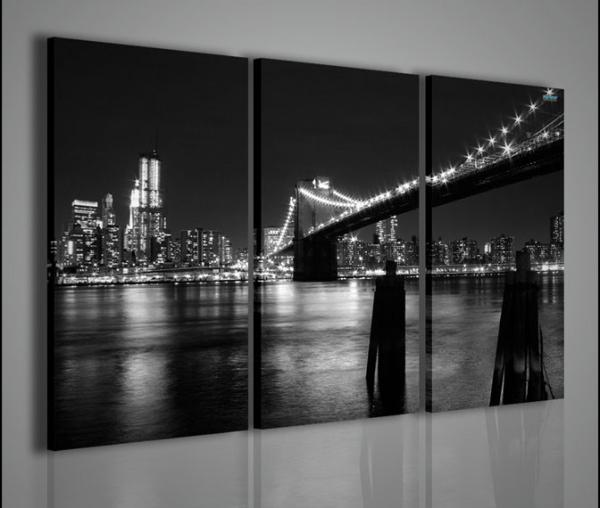 Quadri moderni quadri di citt new york black and white 1 for Capoletto moderno