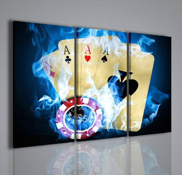 Quadri moderni quadri sport e giochi poker game ii for Quadri da arredamento moderno