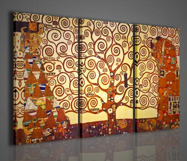Quadri moderni quadri pittori famosi l albero della vita for Stampe su tela ikea