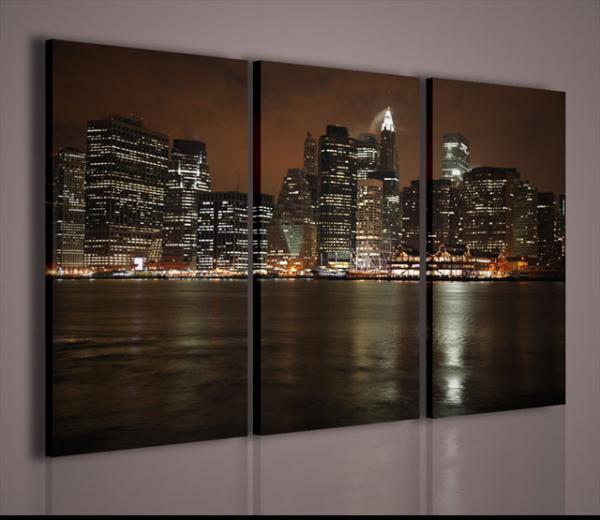 Quadri moderni quadri di citt manhattan new york quadri - Quadri da parete moderni ...
