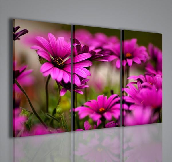 Quadri moderni quadri di fiori e piante violet flower iii for Quadri di fiori