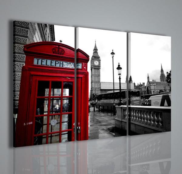 Quadri moderni quadri di citt london telephone ii - Quadri da parete moderni ...
