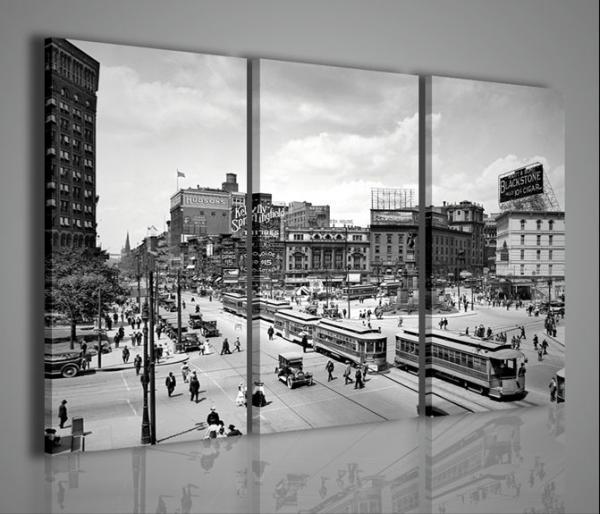 Quadri Moderni-Quadri di Città-Detroit City  Quadri Moderni