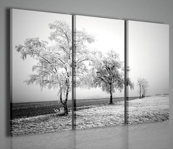 Quadri moderni quadri di natura e paesaggi frozen road - Quadri da parete moderni ...