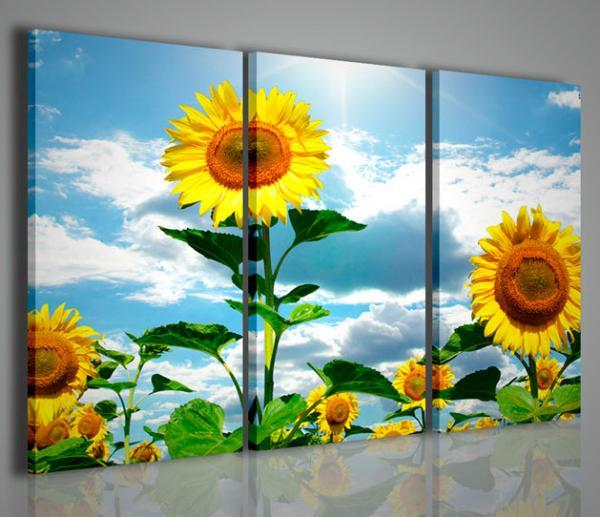Arredamento Di Soggiorno : Quadri moderni di fiori e piante sunflower vi