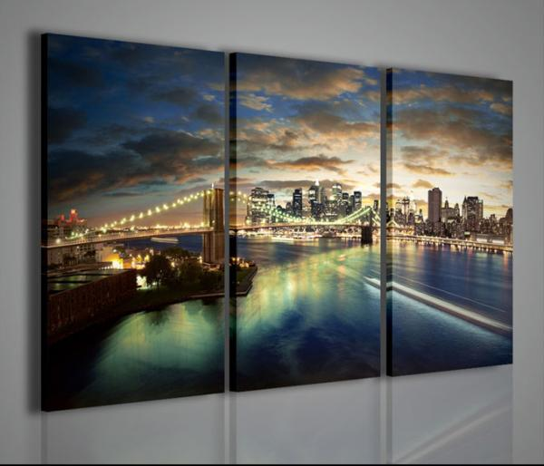 Quadri Moderni-Quadri di Città-New York City Bridge  Quadri Moderni
